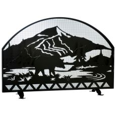 "48"" W X 32"" H Bear Creek Arched Fireplace Screen"