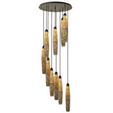 "48"" W Checkers 10 Lt Cascading Pendant"