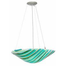 """21"""" W La Spiaggia Fused Glass Inverted Pendant"""