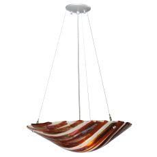 "21"" W Marina Fused Glass Inverted Pendant"
