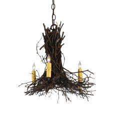 "20"" W Twigs 3 Arm Chandelier"