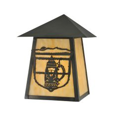"7"" W Lake Clear Lodge Stein Wall Sconce"