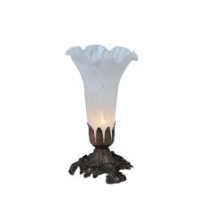 "8"" H White Pond Lily Accent Lamp"