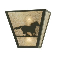"13"" W Wild Horse Right Wall Sconce"