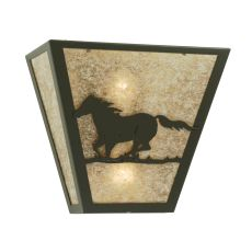 "13"" W Wild Horse Left Wall Sconce"
