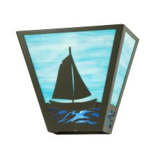 """13"""" W Sailboat Wall Sconce"""