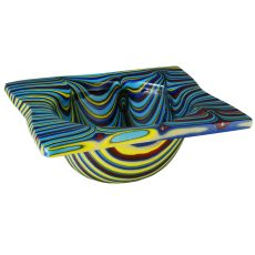 "15"" W Metro Fusion Tropical Glass Bowl"