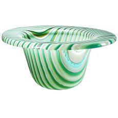 "12"" W Metro Fusion Peppermint Glass Bowl"