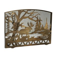 """50"""" W X 35.5"""" H Moose Creek Arched Fireplace Screen"""