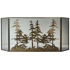 "96"" W X 40"" H Tall Pines Fireplace Screen"