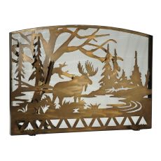 "60"" W X 40"" H Moose Creek Arched Fireplace Screen"