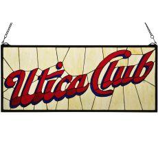 """31"""" W X 13"""" H Utica Club Stained Glass Window"""