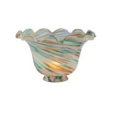 """7"""" W Fluted Bell Peacock Shade"""