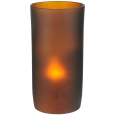 "3"" W X 6"" H Cylinder Frosted Amber Shade"