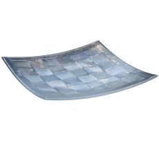 """14"""" Sq Metro Fusion Empire Glass Plate"""