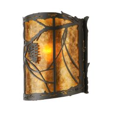"""9"""" W Whispering Pines Wall Sconce"""