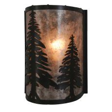 "8"" Wx12"" H Pine Trees Wall Sconce"