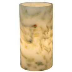 "3.5"" W X 6.5"" H Cylinder Jadestone Light Green Flat Top Candle Cover"