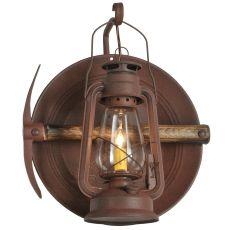 "14.5"" W Miner'S Lantern Wall Sconce"
