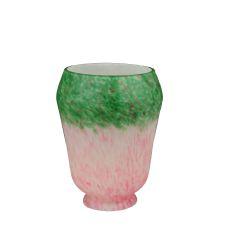 "4"" W Pink/Green Grape Pate-De-Verre Shade"