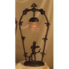 "19"" H Cherub With Violin Accent Lamp"