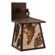 """7.5"""" W Stillwater Grapes Hanging Wall Sconce"""