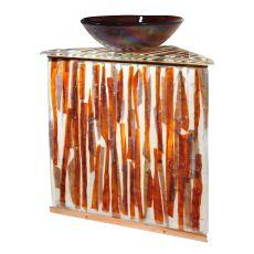 "35"" H Marina Fused Glass Sink/Vanity Combo"