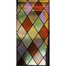 "11.25"" W X 41.5"" H Tudor Stained Glass Window"