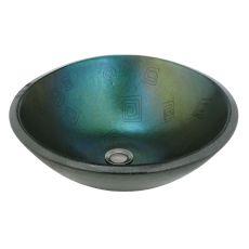 "17"" W Metro Fusion Fiddleheads Glass Sink"