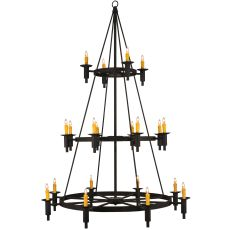 "60"" W Carella 20 Lt Three Tier Chandelier"