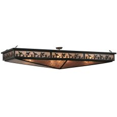"80"" L Ducks In Flight Oblong Semi-Flushmount"