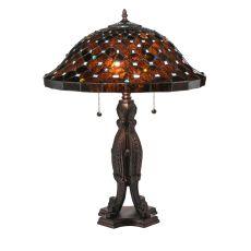 "24.5"" H Diamond & Jewel Table Lamp"