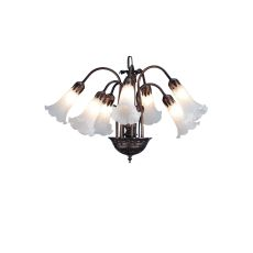 "20"" W White Pond Lily 7 Lt Chandelier"