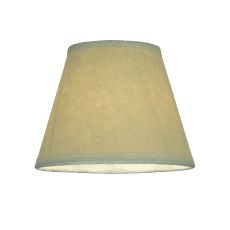 "5"" W X 4"" H Aged Celadon Beige Parchment Shade"