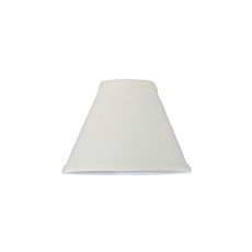 """7"""" W X 5"""" H Natural Linen White Fabric Shade"""