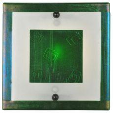 "12"" W Metro Fusion Aventurine Glass Wall Sconce"