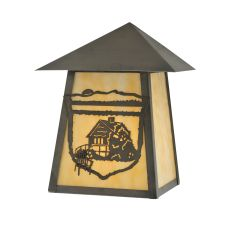 "9"" W Lake Clear Lodge Cabin Wall Sconce"