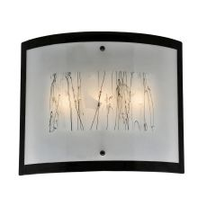 """24"""" W Metro Fusion Twigs Glass Wall Sconce"""