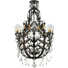 "48"" W French Baroque 16 Lt Chandelier"