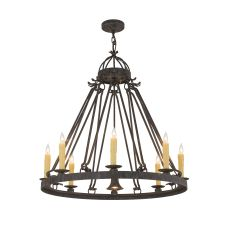 "36"" W Lakeshore 8 Lt W/Downlight Chandelier"