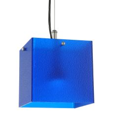 "6.75"" Sq Quadrum Blue Led Mini Pendant"