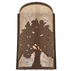 """7.75"""" W Oak Tree Wall Sconce"""