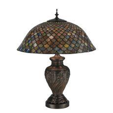 "24"" H Tiffany Fishscale Table Lamp"