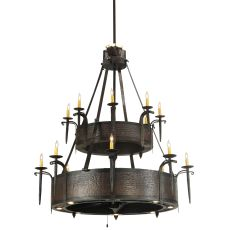 """51"""" W Costello 2 Tier Up And Downlight Chandel-Air"""