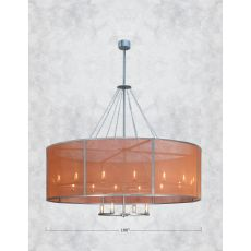 "108"" W Cilindro Rame Chandelier"