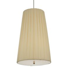 """15"""" W Channell Tapered & Pleated Pendant"""