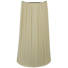 """9"""" W X 16"""" H X 4"""" D Channell Tapered & Pleated Half Shade"""