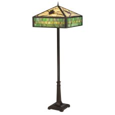 """64.5"""" H Green Pine Branch Mission Floor Lamp"""