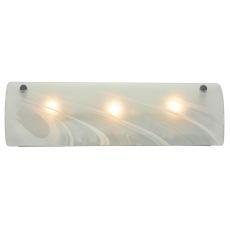 "18"" W Metro Fusion Blanco Swirl Glass Vanity Light"