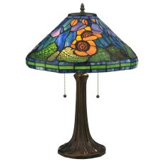 "23"" H Tiffany Poppy Cone Table Lamp"